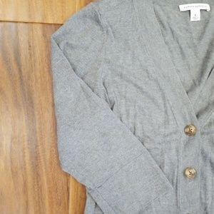 Banana Republic Silk Cotton Cashmere Gray Sweater